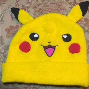 Pokemon Pikachu w/ Ears Anime Knit Beanie